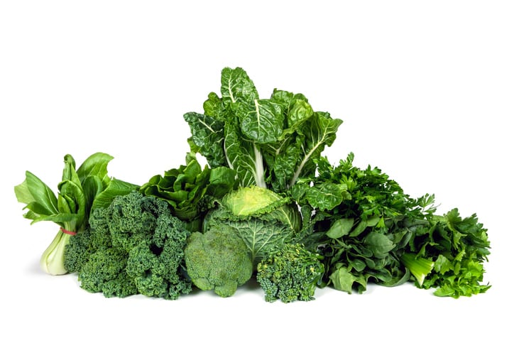 Dark green vegetables good for eye health
